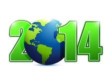 2014 globe sign illustration design. Over a white background royalty free illustration
