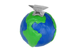 Globe and Silver Anvil Royalty Free Stock Photo