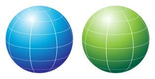 Globe. Simple illustration of globe on white background stock illustration