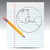 Globe sketch Stock Photos