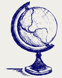 Globe sketch. Doodle style. Vector Royalty Free Stock Photo