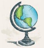 Globe sketch. Grunge style. Vector royalty free illustration