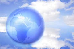 Globe in sky Stock Photography
