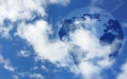Globe in sky Stock Images