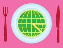 Globe slice Stock Images