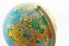 Globe. Small globe isolated on white background Stock Photography