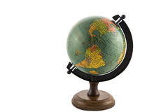 Earth globe. On wooden stand royalty free stock image