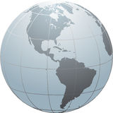 Globe_SN_America Royalty Free Stock Photos