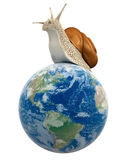 Globe and Snail (clipping path included) Stock Photo