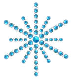 Globe Snowflake_2. 3D globes / ornaments in snowflake pattern, blue Royalty Free Stock Image