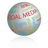 Globe social de medias illustration de vecteur