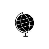 Globe solid icon, school and education element Royalty Free Stock Images