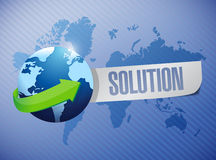 Globe solution sign illustration design Royalty Free Stock Photos