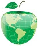 Globe sous forme de pomme illustration libre de droits