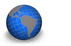 Globe, South America. Semi transparent globe with grid - South America view Stock Photography