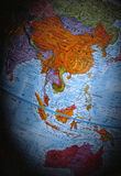 Globe (South East Asian Region). A Globe (South East Asian Region royalty free stock images