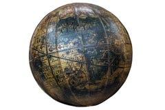 Globe sphérique du monde de vintage montrant le continent de l'Afrique photos stock