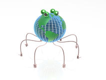 Globe spider Royalty Free Stock Photography