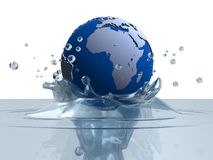 Globe splash Stock Photos
