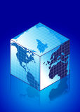 Globe in a square shape Royalty Free Stock Image
