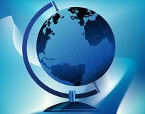Globe on stand stock photography
