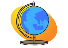 Globe on stand illustration Royalty Free Stock Image