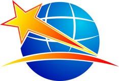 Globe star Royalty Free Stock Image