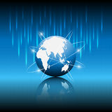 Globe and star tail abstract technology background. EPS 10 Vector Stock Illustration