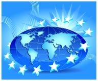Globe with stars Stock Image