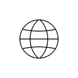 Globe station line icon, world and earth. Vector graphics, a linear pattern on a white background, eps 10 Royalty Free Stock Photos