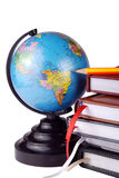 Globe and stationaries Stock Photos