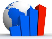 Globe and statistic Stock Photography