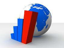Globe and statistic Stock Image