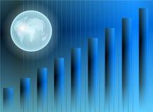Globe stats Stock Image