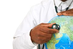 Globe and stethoscope Royalty Free Stock Image