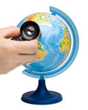 Globe with stethoscope Royalty Free Stock Photography