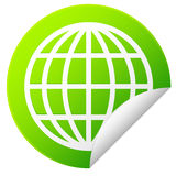 Globe sticker Royalty Free Stock Photos