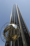 Globe structure in front of Trump hotel on Columbus Circle Royalty Free Stock Photo
