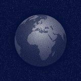 Globe stylisé pointillé par vecteur du monde Photo stock