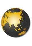 Globe. Stylized 3D vector map. Globe. Stylized 3D vector map, centered on Asia Royalty Free Stock Image