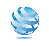 Stylized Globe. In Vector format Royalty Free Stock Image