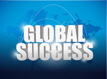 Globe success world map concept illustration Royalty Free Stock Photo