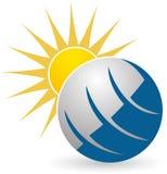 Globe sun logo Stock Image
