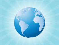 Globe and Sunburst Royalty Free Stock Photos