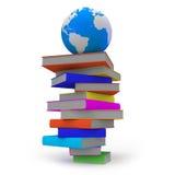 Globe sur des livres Photos libres de droits