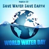 Globe sur l'eau Images libres de droits