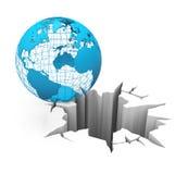 Globe sur le bord Images stock