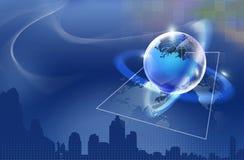 Globe sur le fond abstrait Photos libres de droits