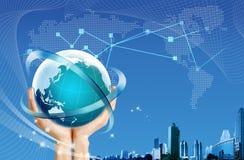 Globe sur le fond abstrait Photographie stock libre de droits