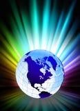 Globe sur le fond abstrait de spectre illustration libre de droits